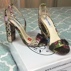 Brand New Steve Madden Size 6 colorful heels